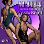 M4H4 Homme Fashion Set 1 - Vest & Brief