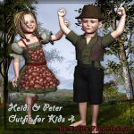 Heidi & Peter Outfit for Kids4