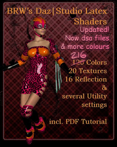 BRW Daz|Studio Latex Shaders