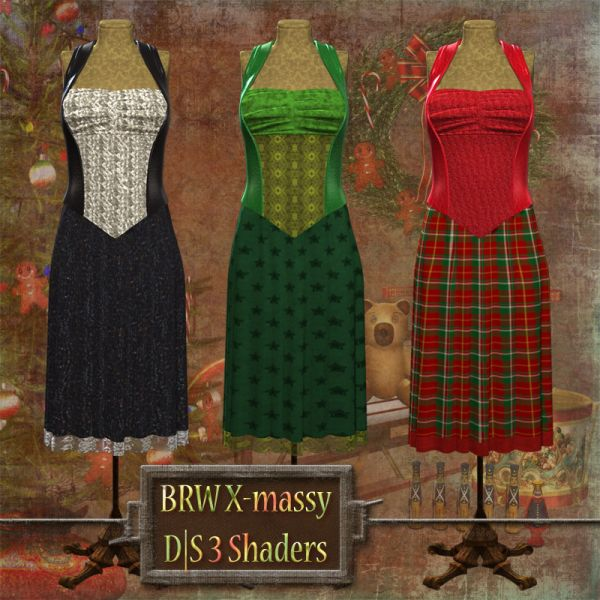 BRW Daz|Studio X-mas Shaders