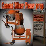Cement Mixer Poser Prop