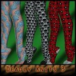 Deadly Knits III: For Gizmee's knitted stockings