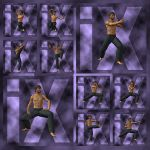 Ixdon: James Martial Arts Poses 1