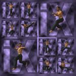 Ixdon: James Martial Arts Poses 2