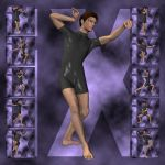 Ixdon: David, M3 Martial Arts Poses 3