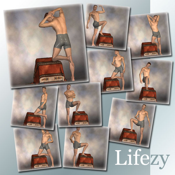 Lifezy: Drape Throne Poses of Michael 3, David #2