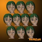 MRZ: Hiro Character & Expression Faces Bundle