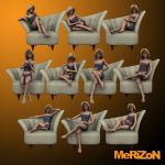 MRZ: Laura 3 Deco Redux Poses