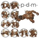 Pdm: Freak, Michael, Troll Comic Action Poses 2