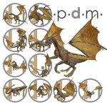 Pdm: Millennium Dragon Poses 1