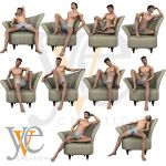 Yve: M3, David Harpback Chair Poses