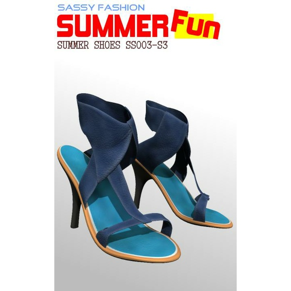 Sassy Fashion: Summer Shoes SS003 for SP3