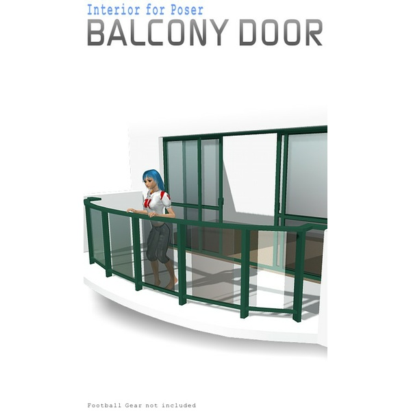 Interior: Balcony Sliding Door for Poser
