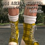 Sock Toppers for M4 Army Boots