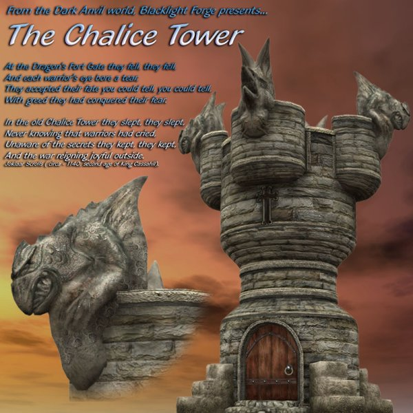 Chalice Tower for Poser 4++