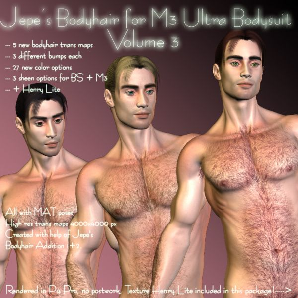 Jepe's Bodyhair for M3 Ultra Bodysuit Volume 3